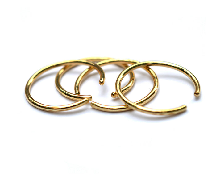 bronze hammered cuff rings by aquarian thoughts jewelry