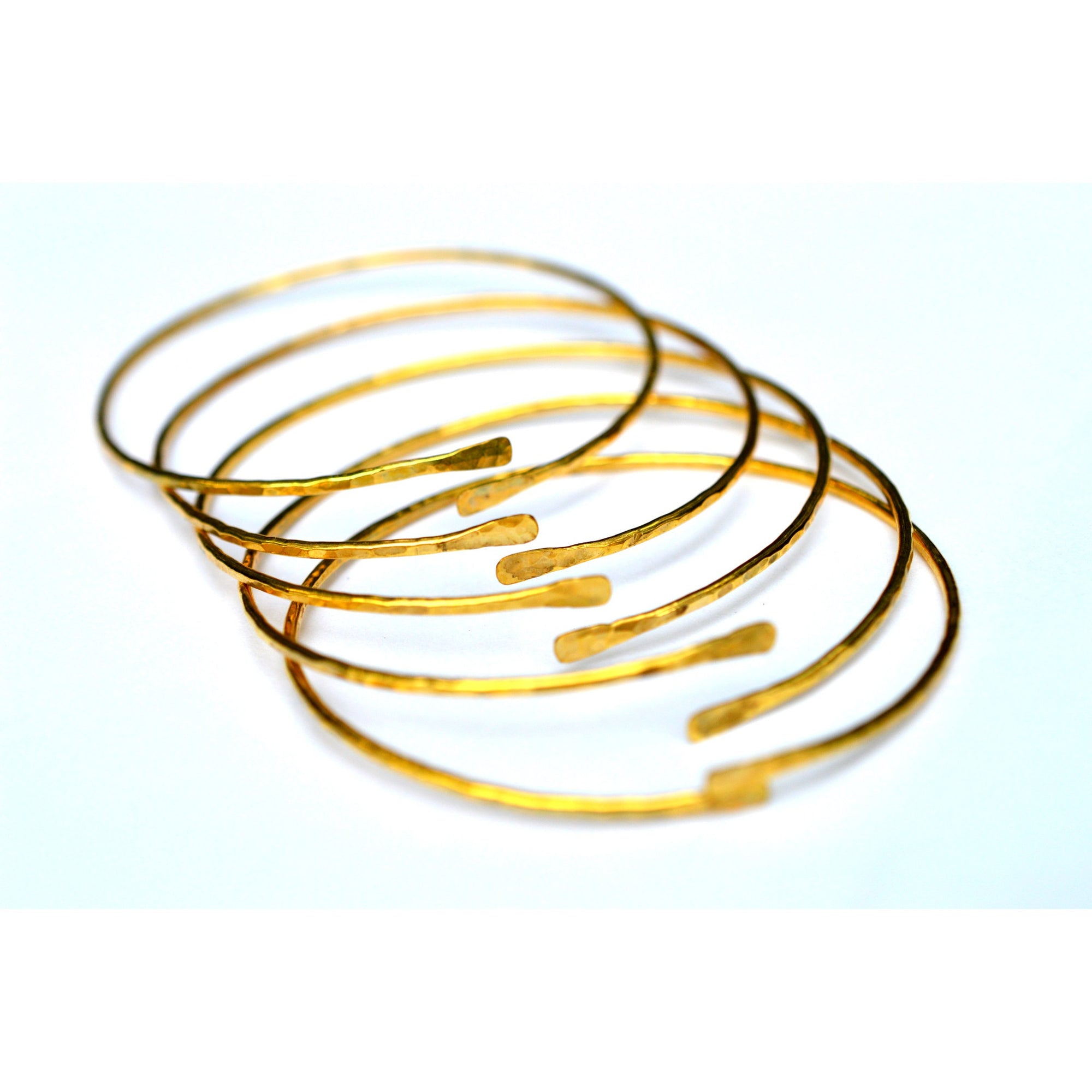 online spring simple design indian wear daily plated plain imitation bangles thin bangle guarantee jewellery south gold size