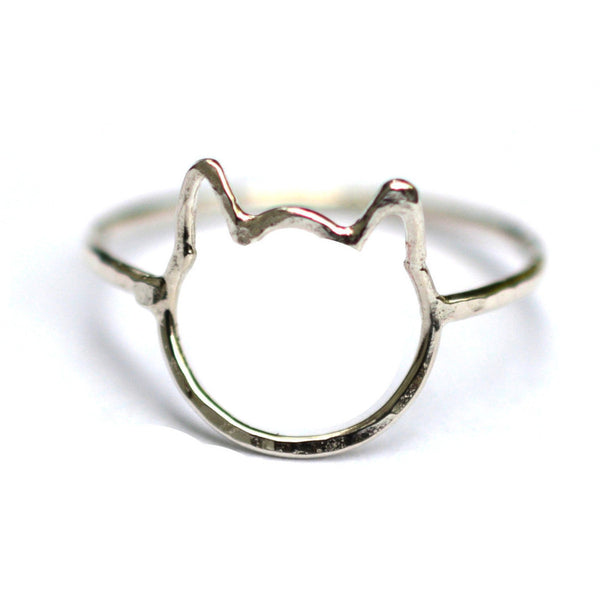Hammered Cat Ring