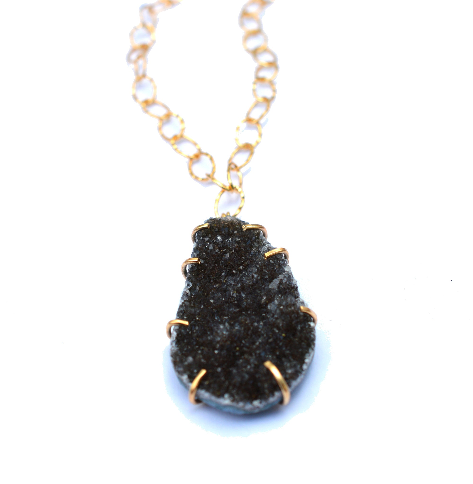 Black Drusy Necklace