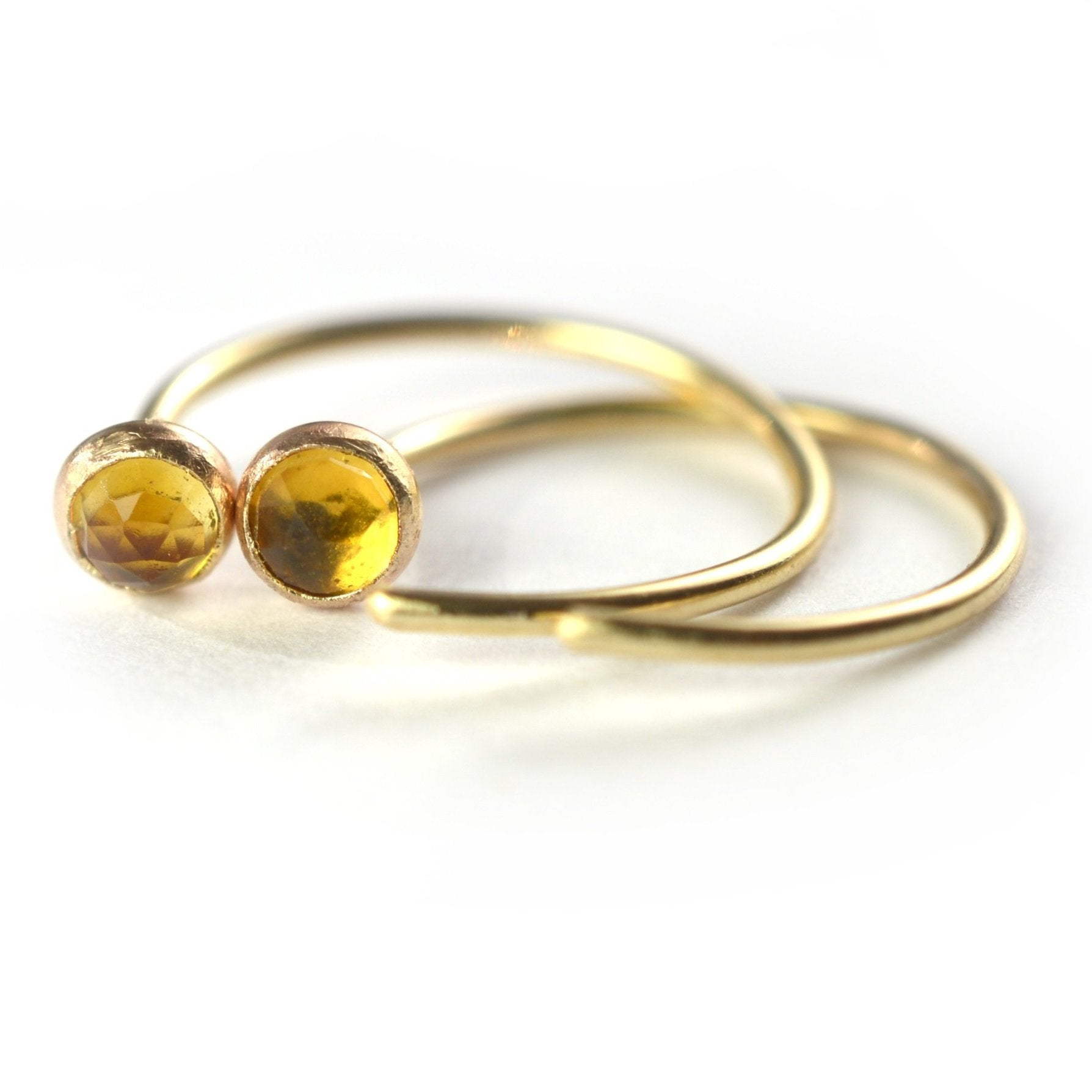 Citrine Ear Huggers by Aquarian Thoughts Jewelry