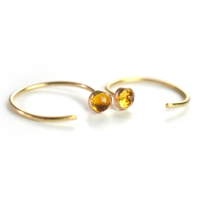 Citrine Ear Huggers