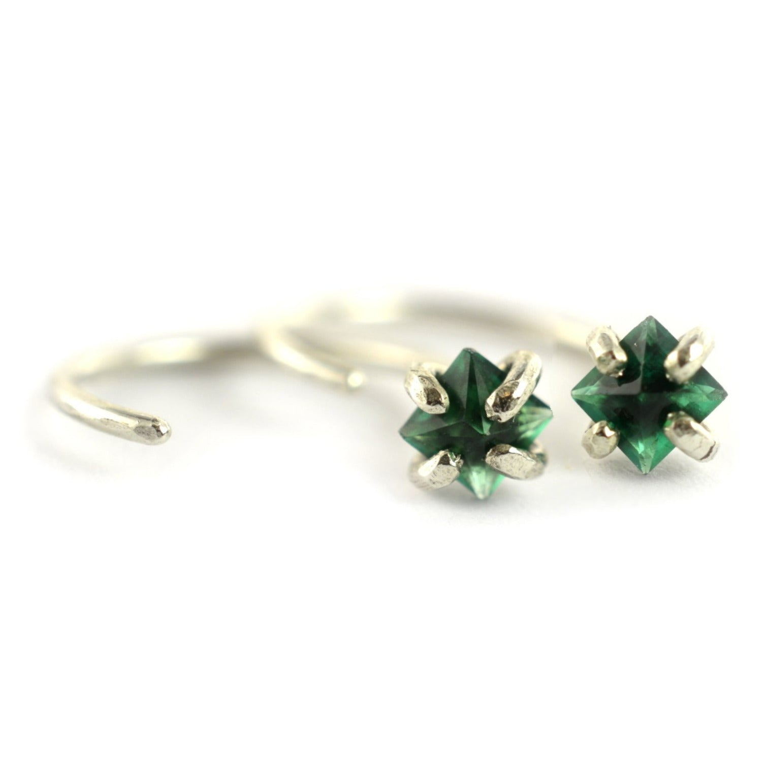 Emerald Ear Huggers