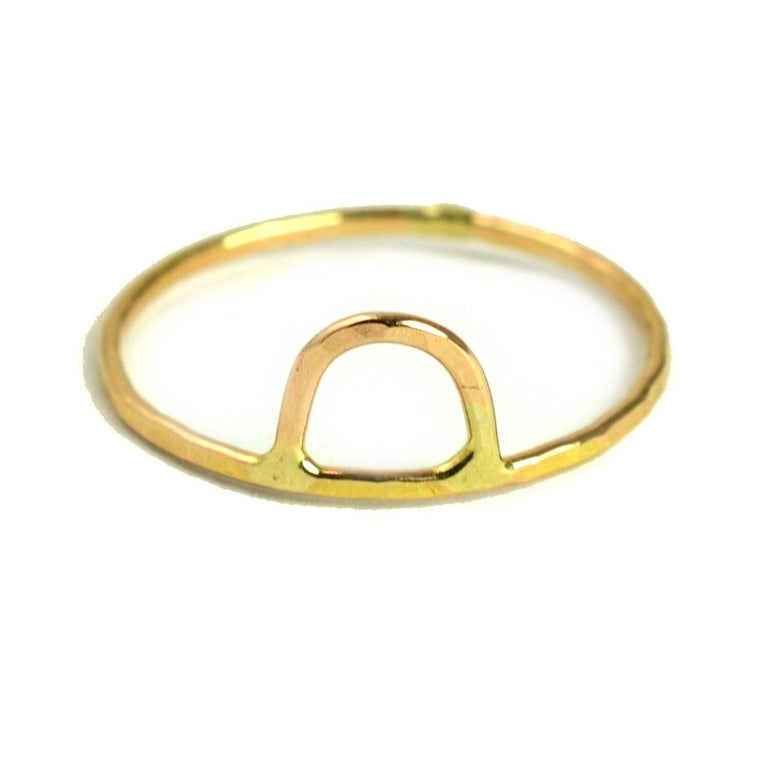Geometric Arch Stackable Ring