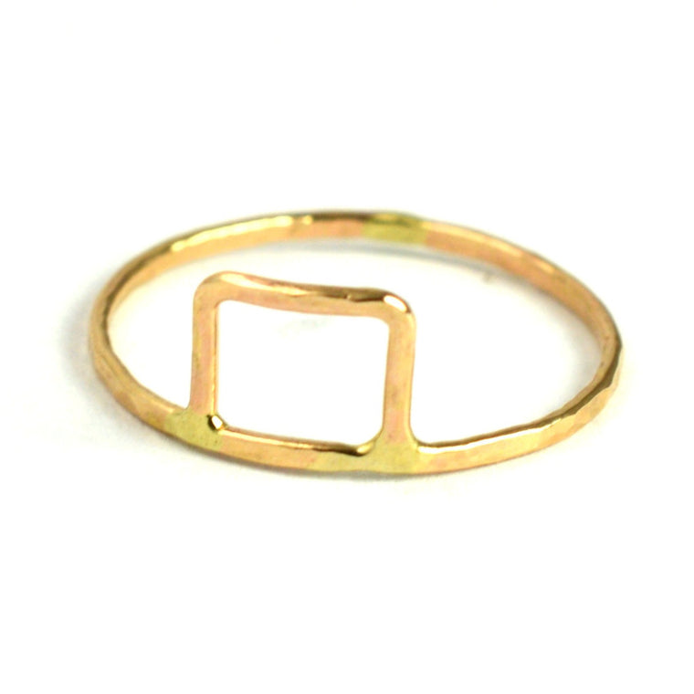 Geometric Rectangle Stackable Ring