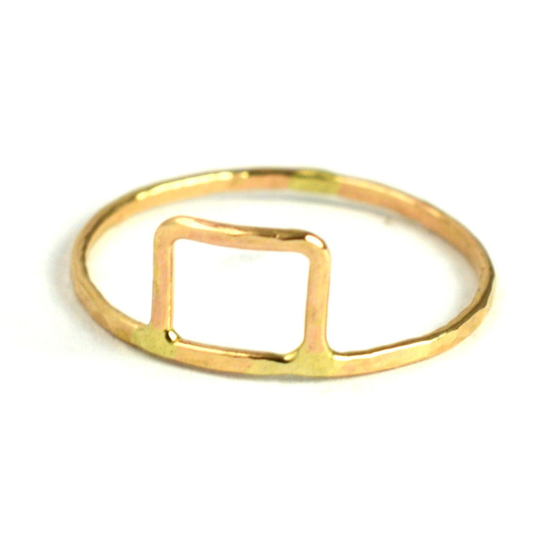 hammered rectangle stacking ring by aquarian thoughts jewelry