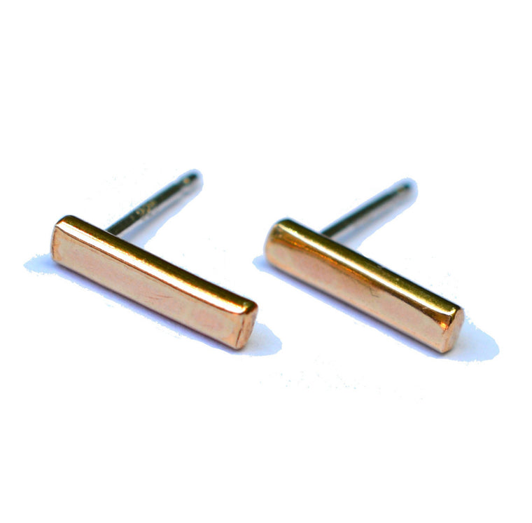 Tiny Bar Stud Earrings