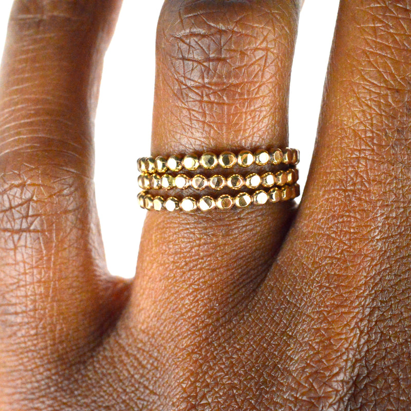 aquarianthoughts jewelry, gold stacking rings