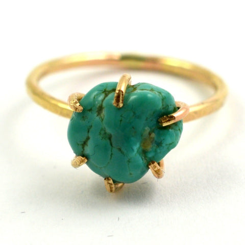 Chunky Boho Turquoise ring by aquarian thoughts jewelry