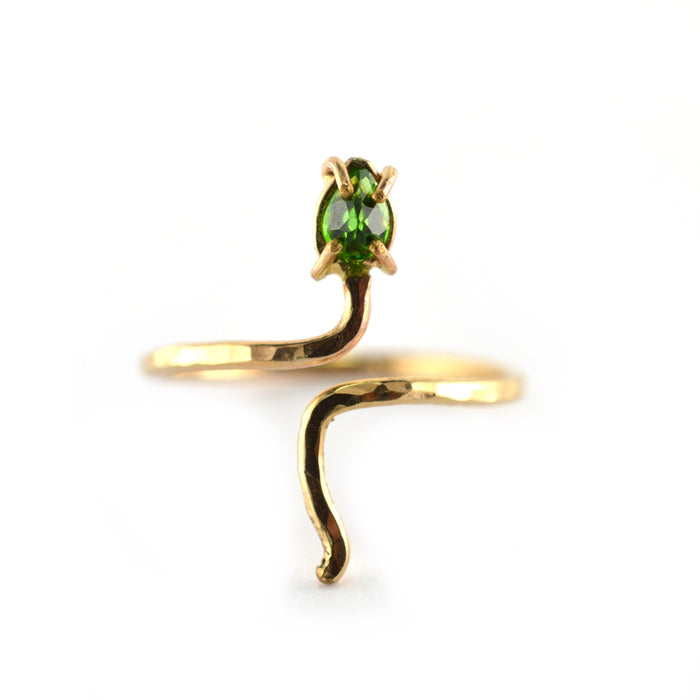 Bejeweled Serpent Ring