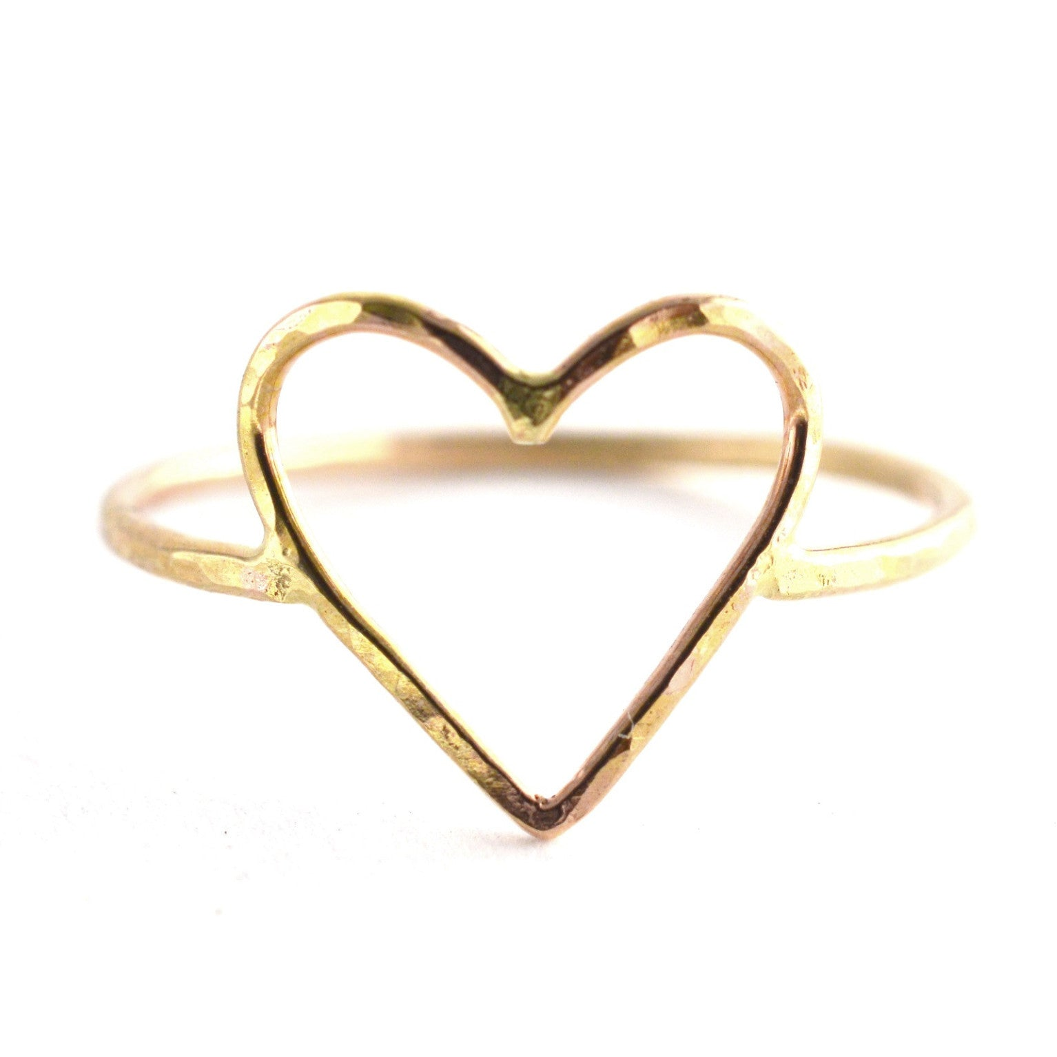 handmade heart ring, aquarianthoughts jewelry