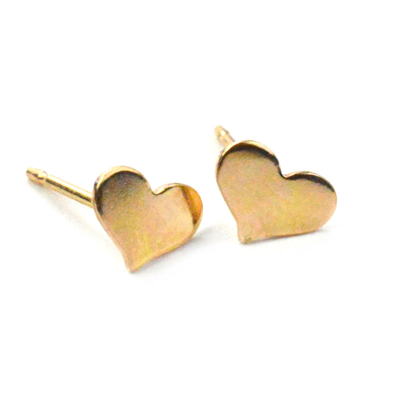 Tiny Heart Stud Earrings