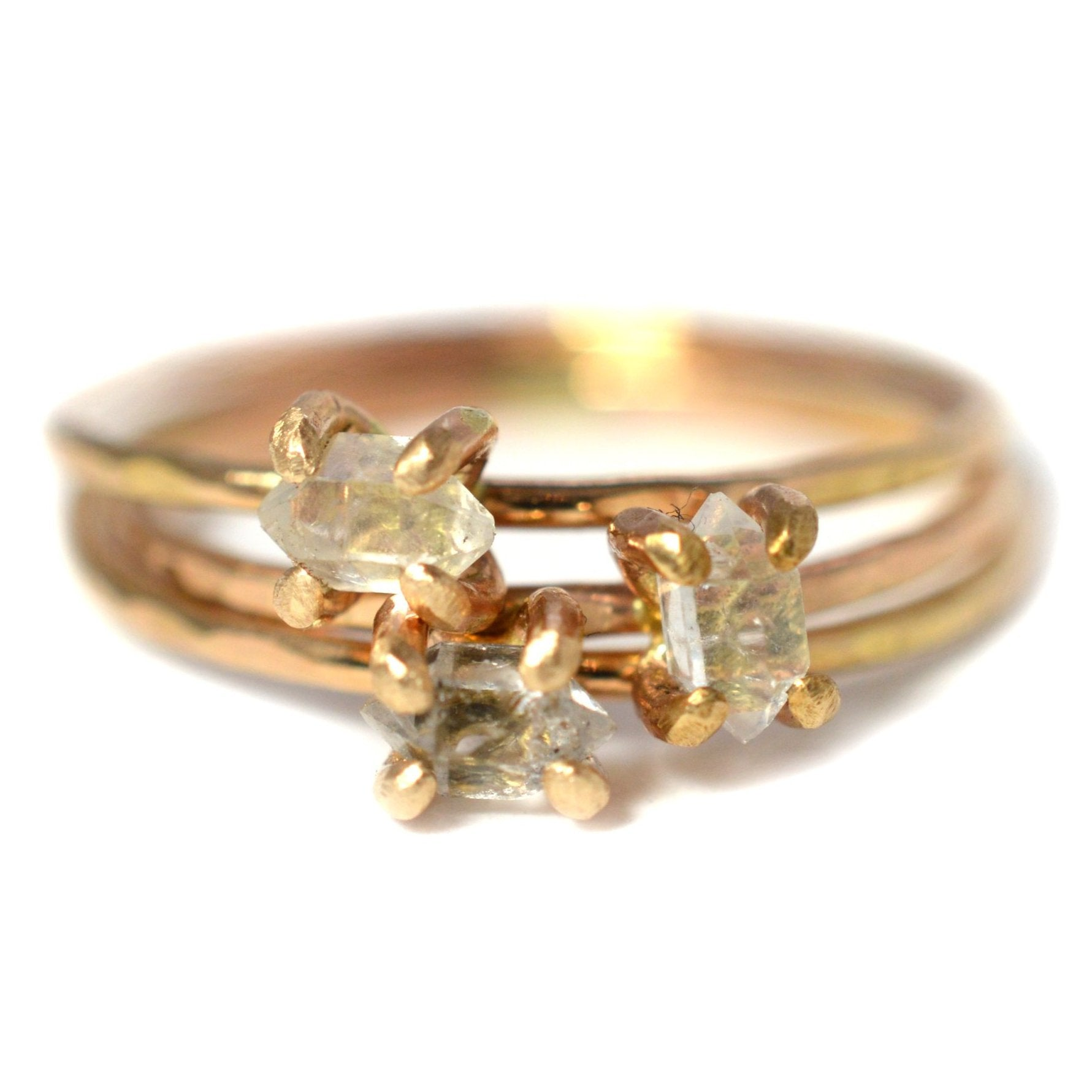 herkimer diamond ring, aquarian thoughts jewelry