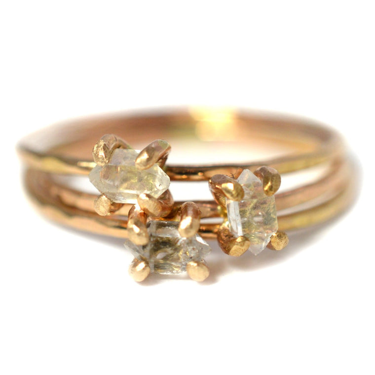 Delicate Herkimer Diamond Ring