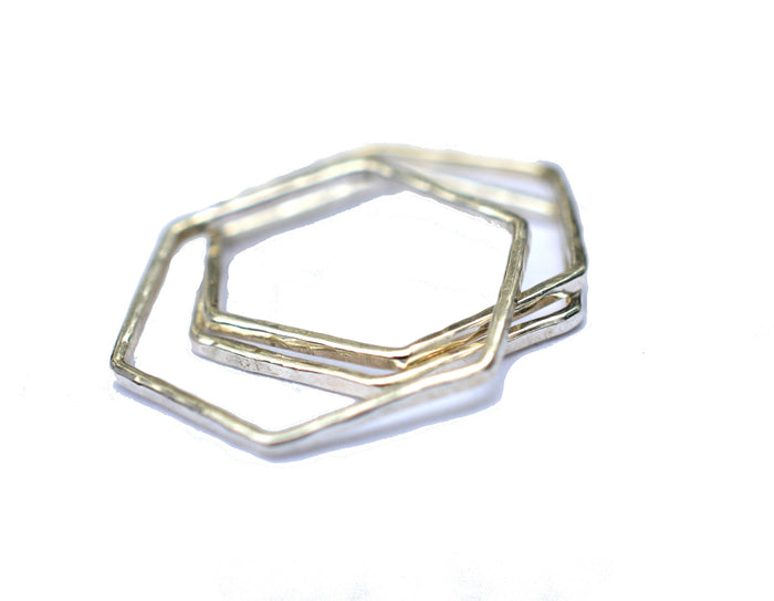 geometric stacking rings by aquarian thoughts jewelry