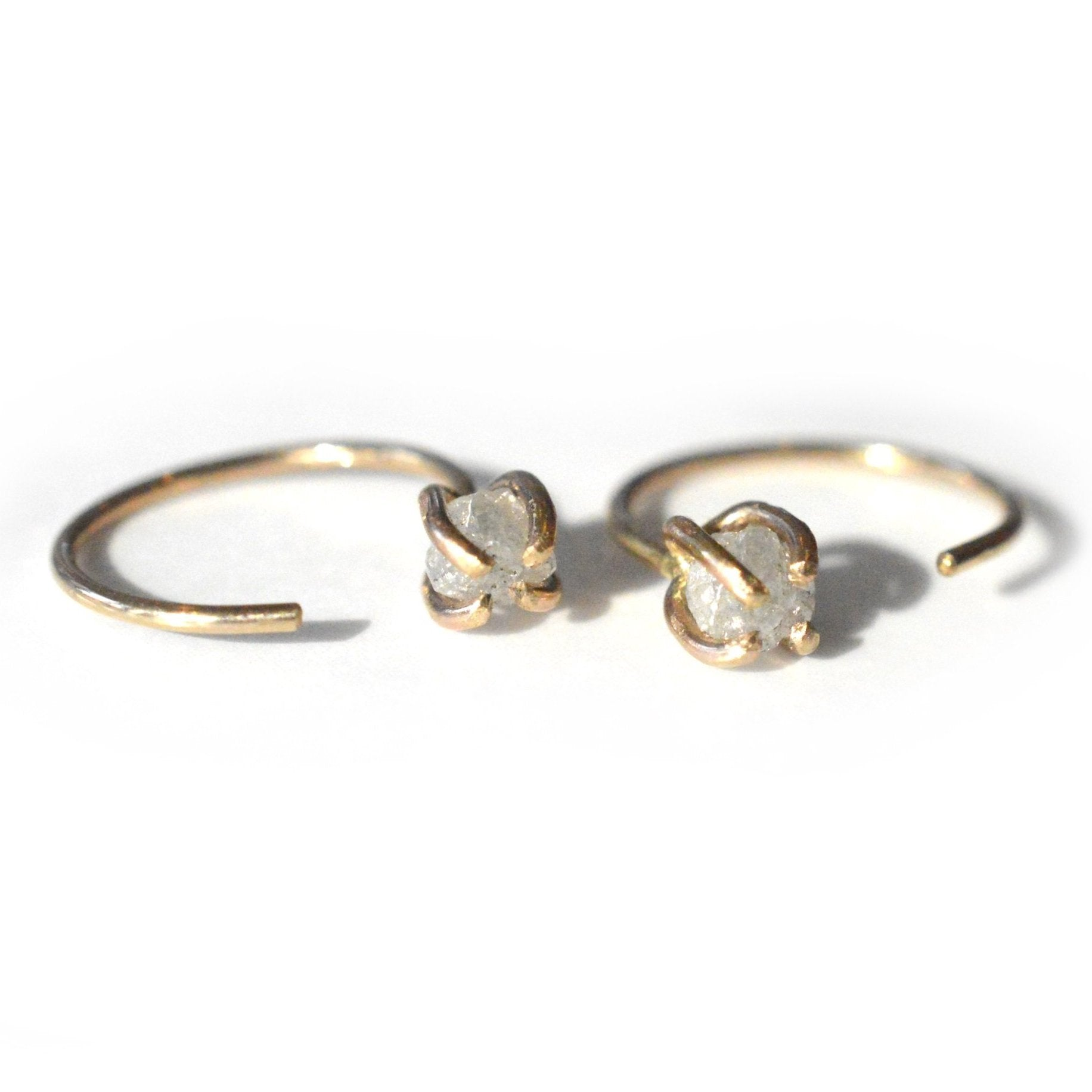 Rough Diamond Ear Hugger Hoops