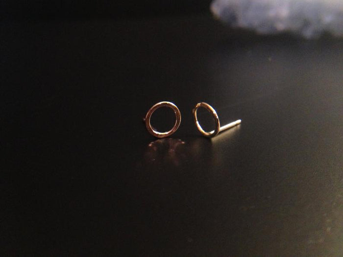 Hammered Circle Post Earring