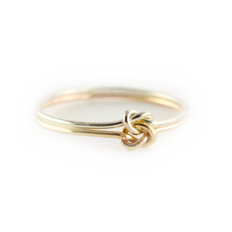 Double Strand Forget Me Knot Ring