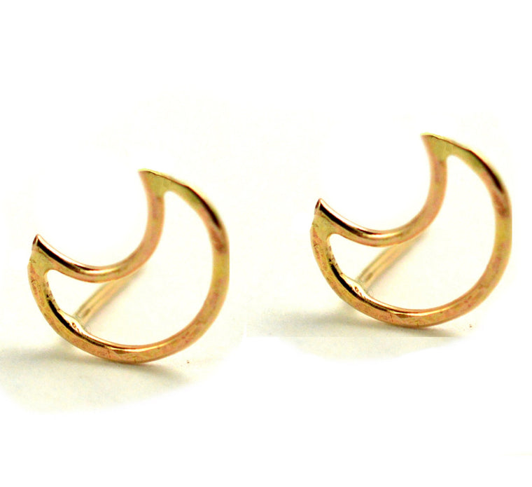Crescent Moon Post Earring