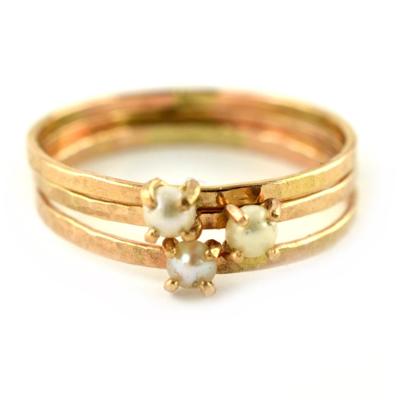 cream pearl ring