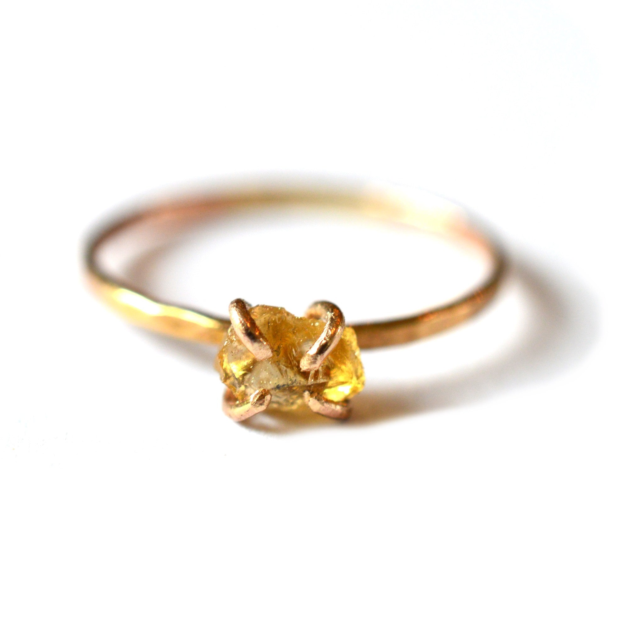 ring engagement yellow emerald wedding rings unique solid pin birthstone brown vintage may gold diamond raw halo