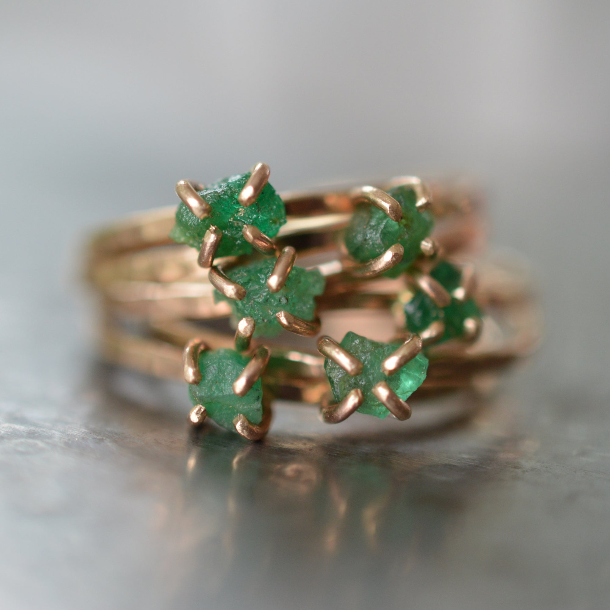 ring thin antique rings birthstone emerald sterling pin rounds emeral dull may silver promise for her matte gold finish