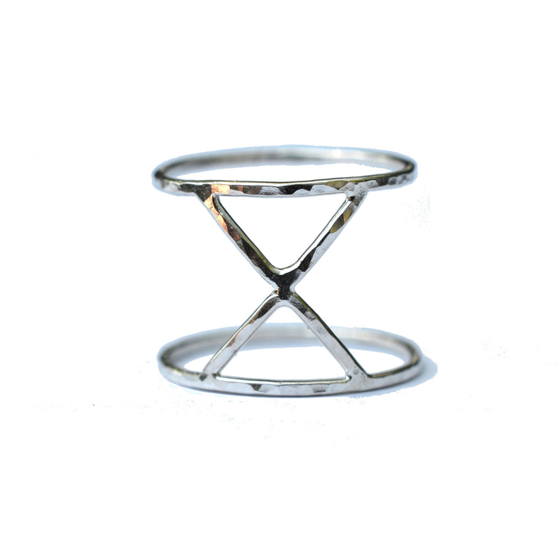 X Double Band Ring