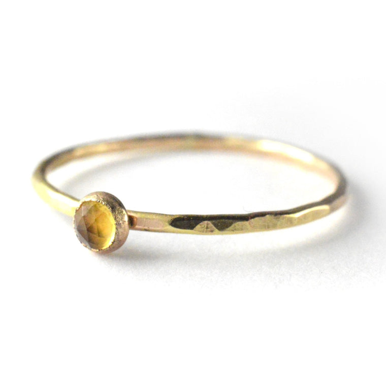 Rose Cut Citrine Ring