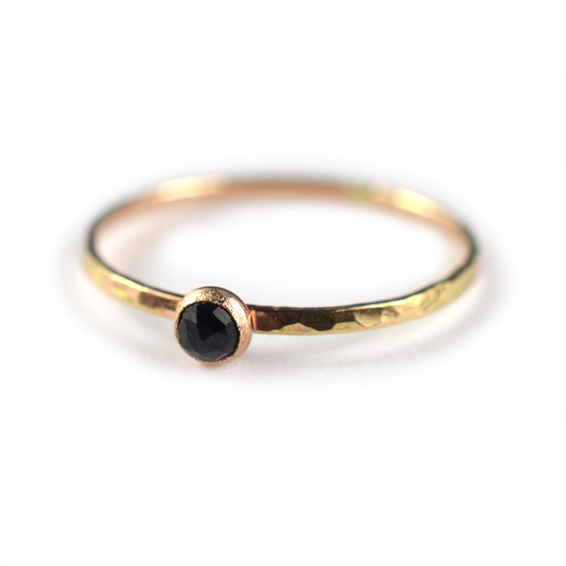 black spinel ring
