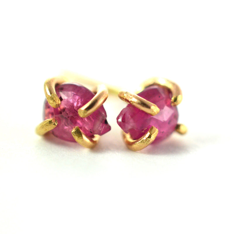 ruby stud earrings aquarian thoughts jewelry
