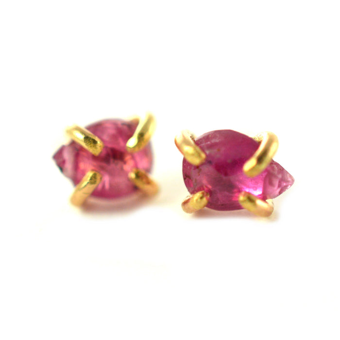 pear ruby earrings