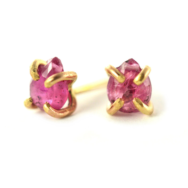 teardrop ruby stud earrings
