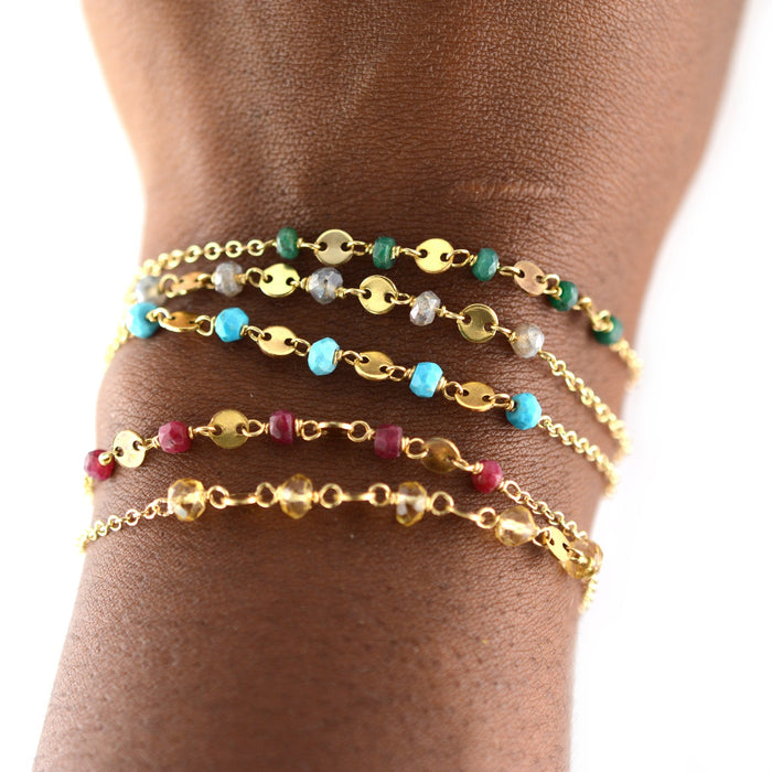 Beaded Sequin Bracelet
