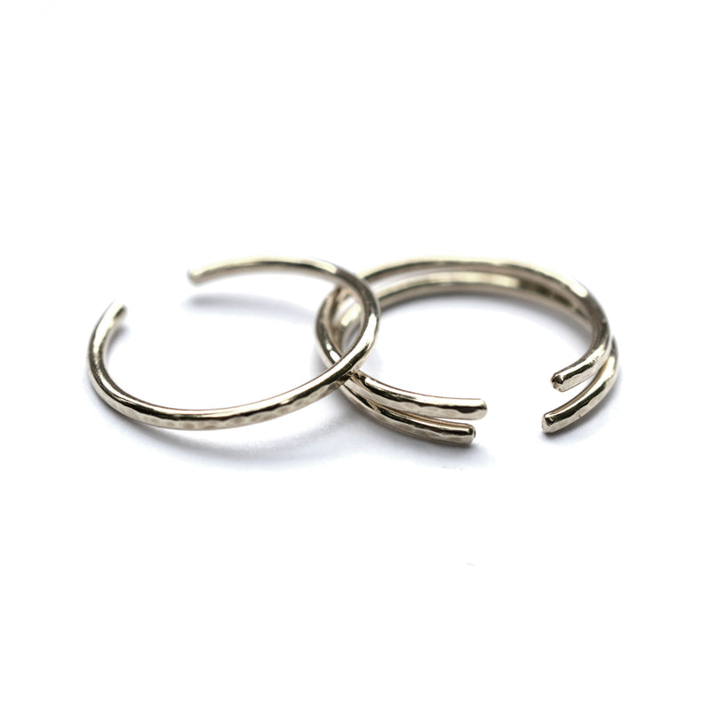 silver hammered cuff rings by aquarian thoughts jewelry