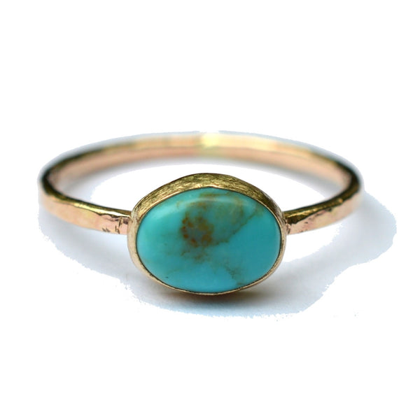 antique inspired gold turquoise ring by aquarian thoughts jewelry