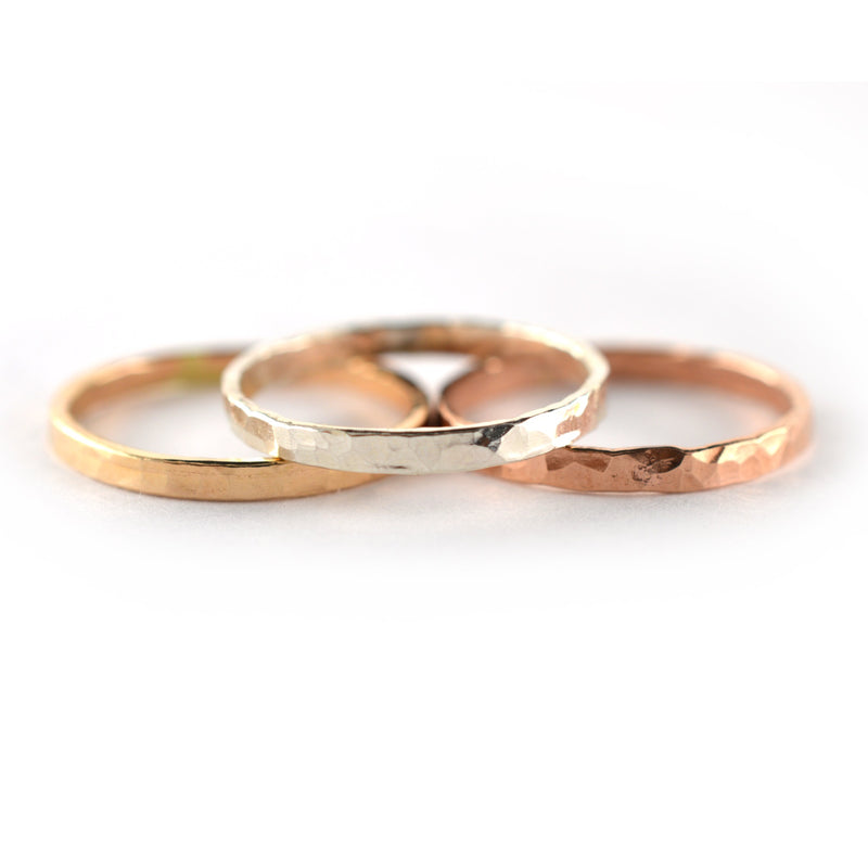 Thick Stackable Ring- Single Ring