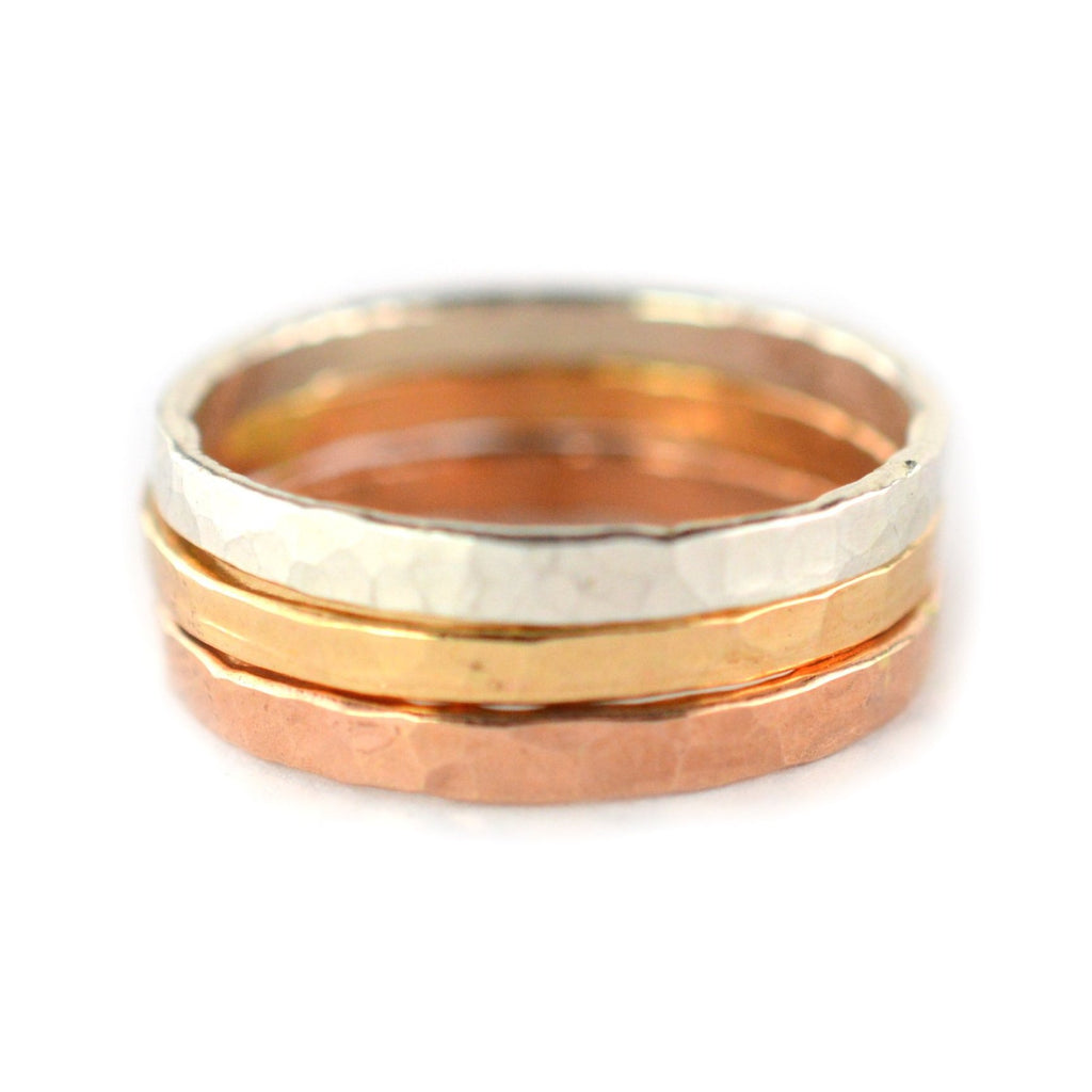 Thick Stackable Rings - Set of 3