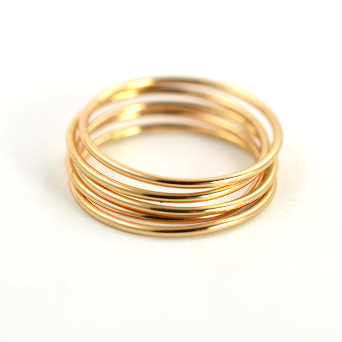 skinny stackable ring threads by aquarian thoughts jewelry