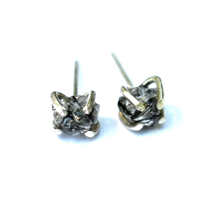Tourmalinated Quartz Stud Earrings