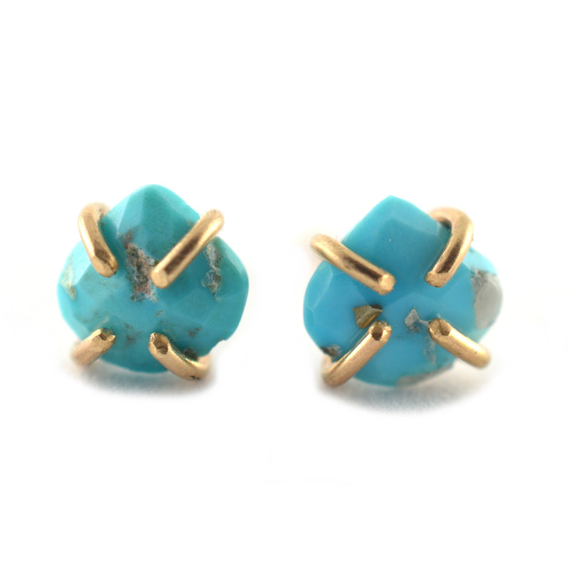 Blue Turquoise Stud Earrings