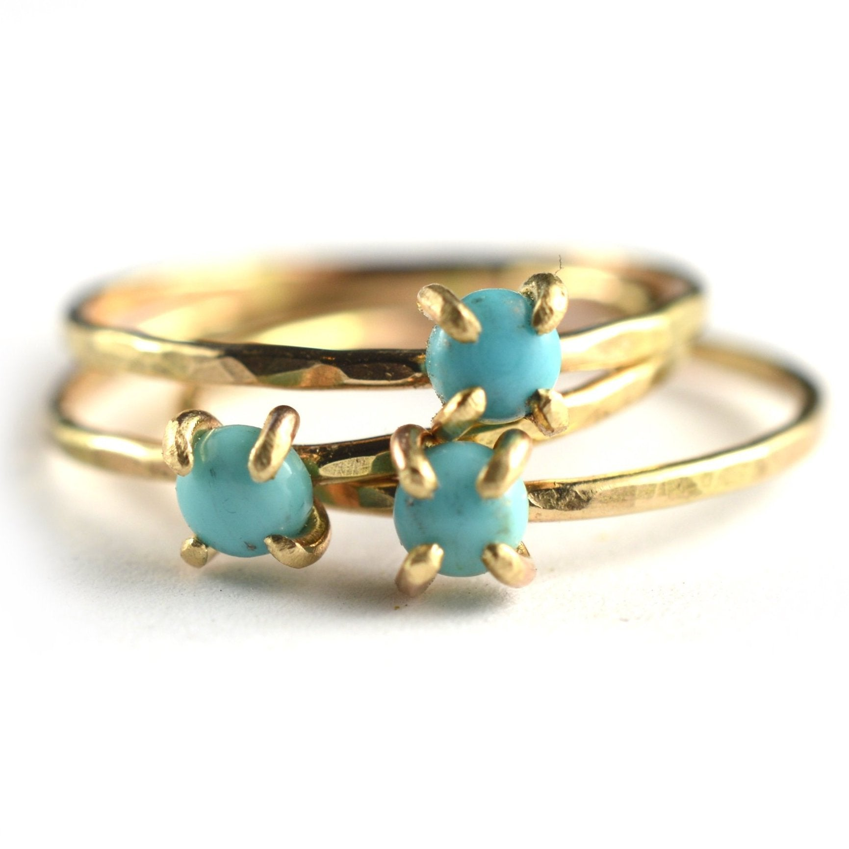 Prong Set Blue Turquoise Ring
