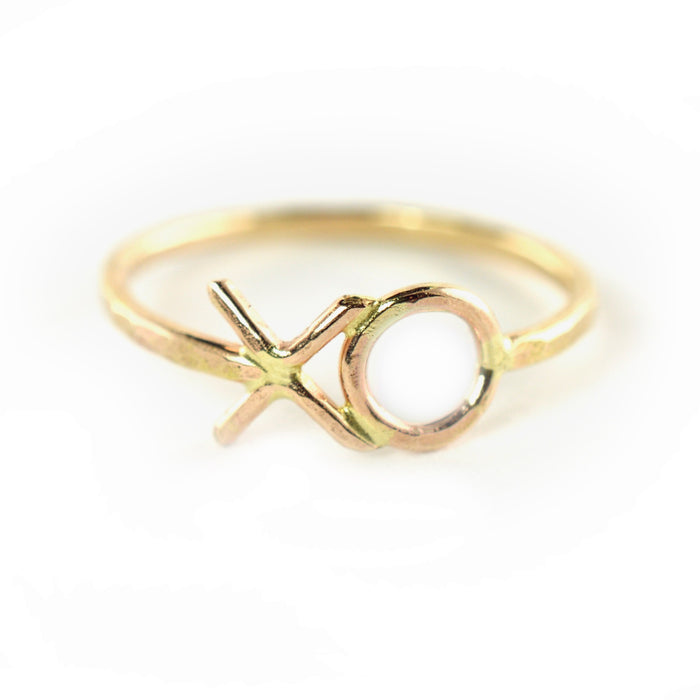 Hammered XO Ring