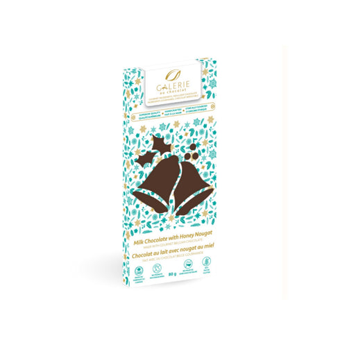 Holiday Milk Chocolate with Honey Nougat Bar