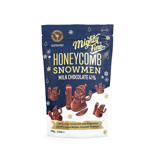 Milk Chocolate Honeycomb Snowmen