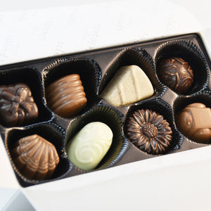 Spring Gift Box of Assorted Chocolates - wrapped with bow