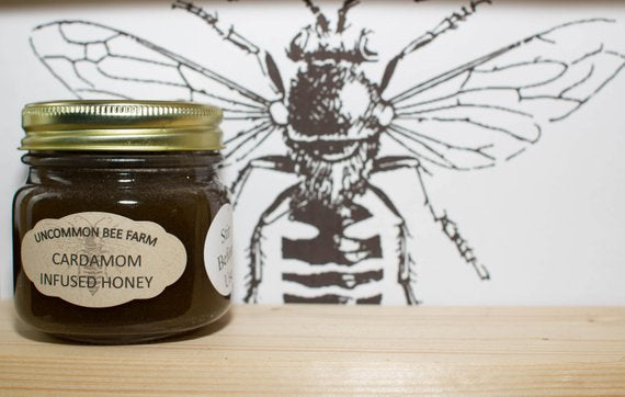 10oz Cardamom Infused Raw Unfiltered Honey