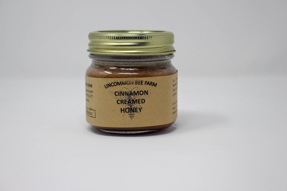 10oz Creamed Cinnamon Infused Raw Unfiltered Honey
