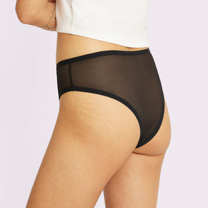 High Rise Cheeky | Silky Mesh