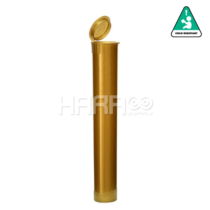 Gold Opaque Child Resistant Pre Roll Tube 116mm  - 1,000 CT