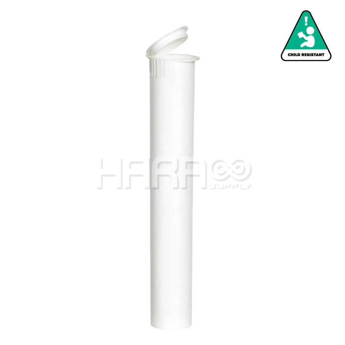 White Opaque Child Resistant Pre Roll Tube 116mm  - 1,000 CT